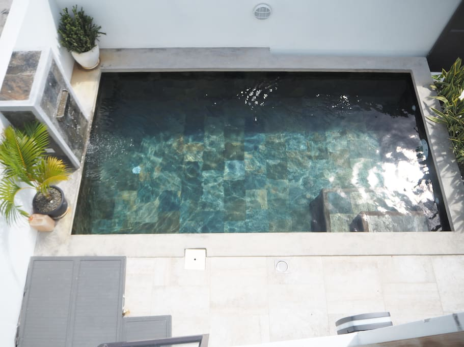 Little pool in front of the terrace
