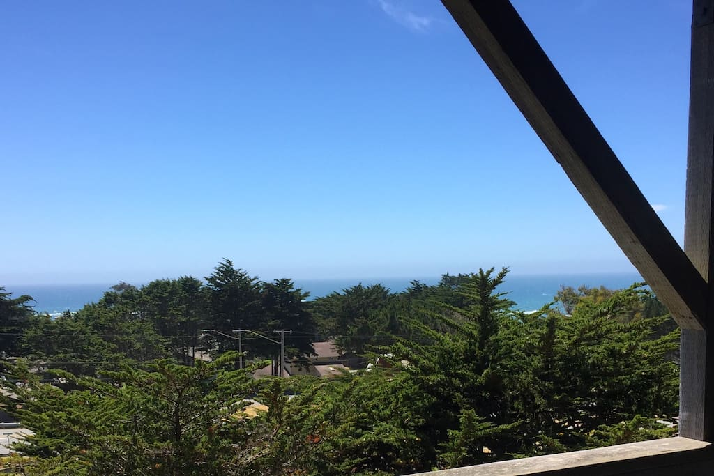 The view of the Ocean from the deck outside of the bedroom!