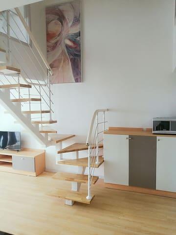 现代温馨风复式两房公寓