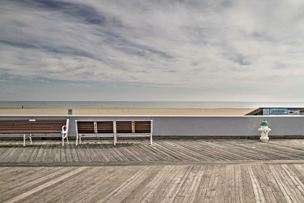 A short 4 block walk from the beach and boardwalk, this location can't be beat.