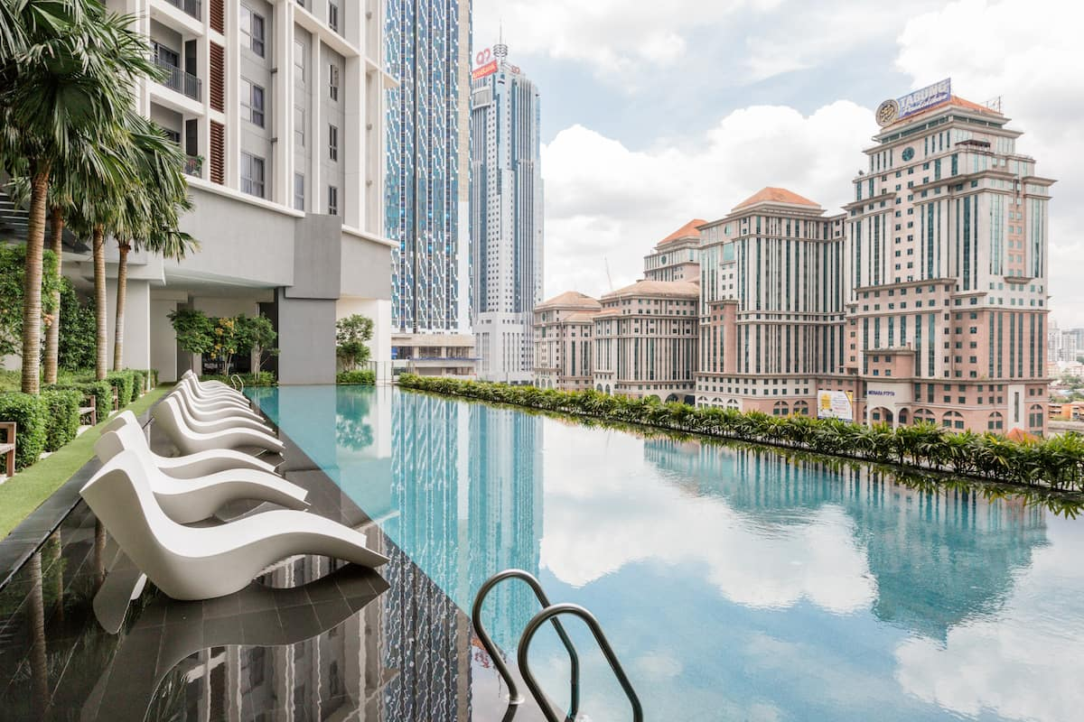 Walk to Petronas Towers from a Stylish Apartment