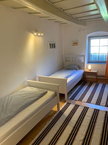 Bedroom (3) with 2 separate beds-ground floor