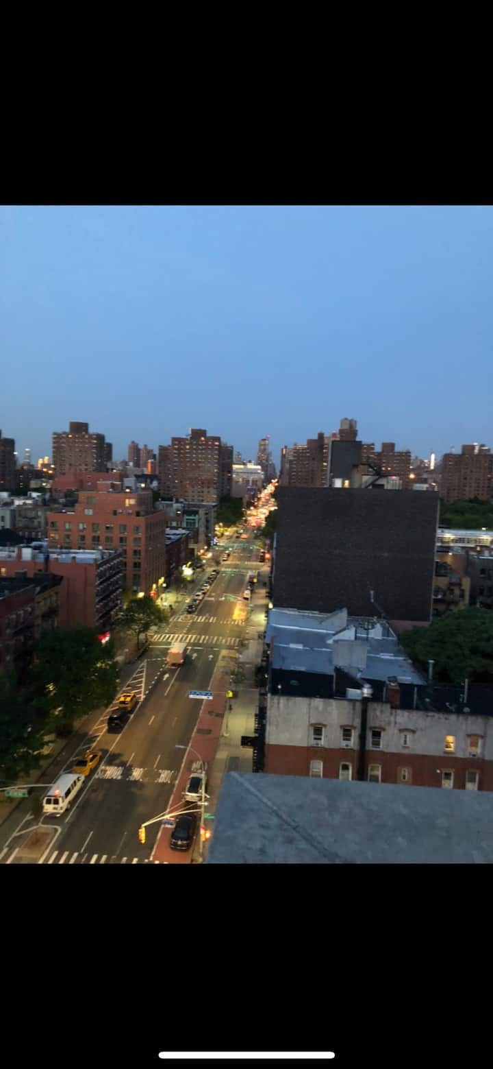 East Harlem apt. with balcony and beautiful views.