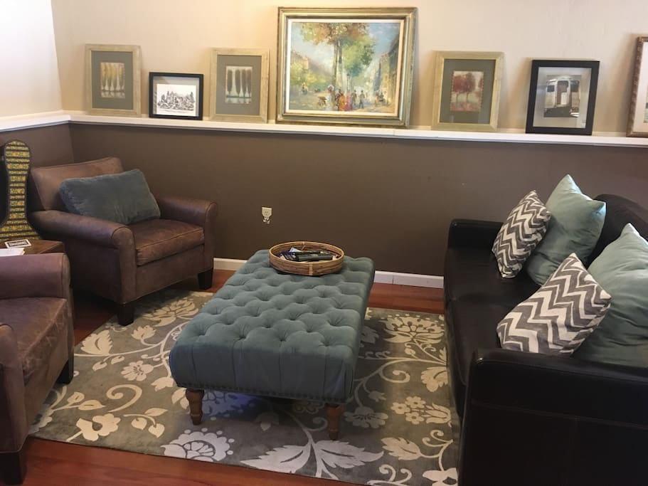 Living area with pull out sofa bed