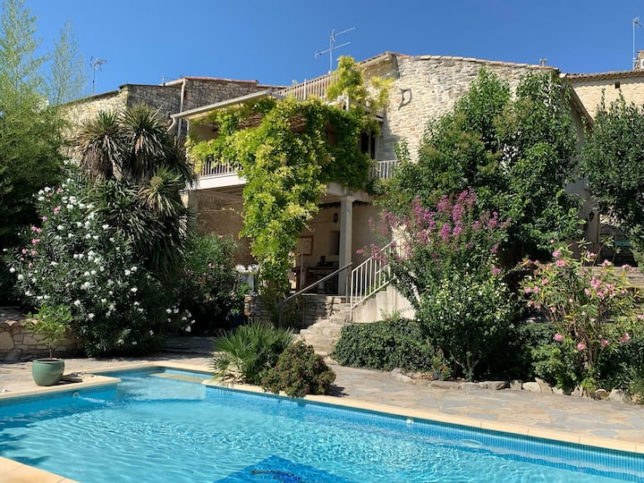 Brignon, authentic charming stone house