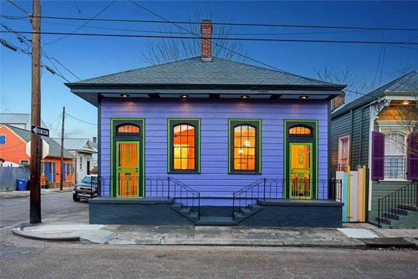 Purple Bywater Gem- located in the heart of one of New Orleans' most creatively inspired neighborhoods. Your entrance is the door on the left!
