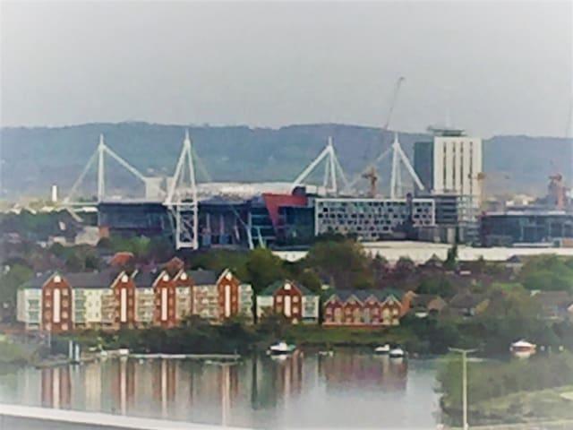 30 mins walk (approx) from Principality Stadium