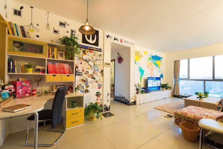 可在房间内观看橘洲焰火的女生四人间床位、混住六人间床位 - 长沙市 - Apartment
