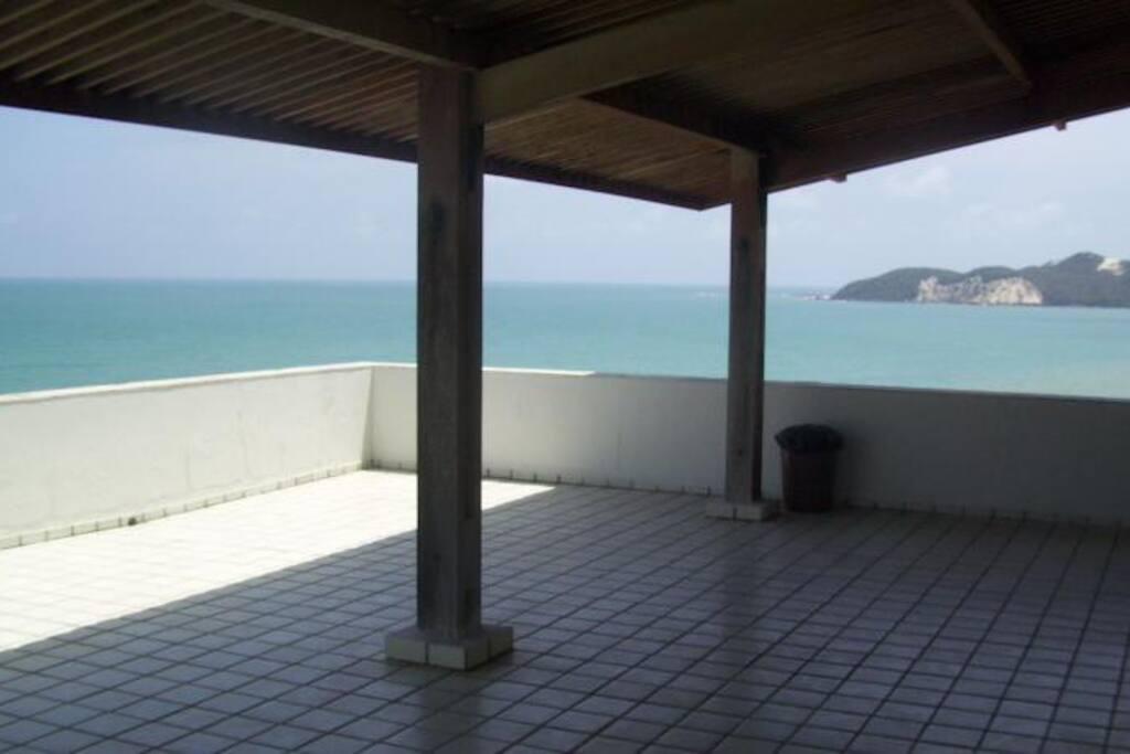 Terraço com vista para a Praia de Ponta Negra Balcon - Vue de la mer