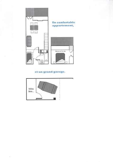 plan de l'appartement et du garage