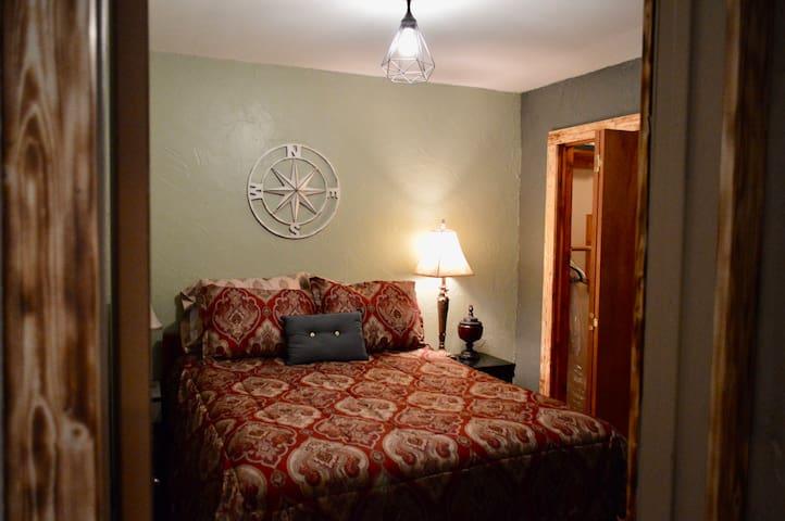 Bedroom 2. Full bed, spacious closet