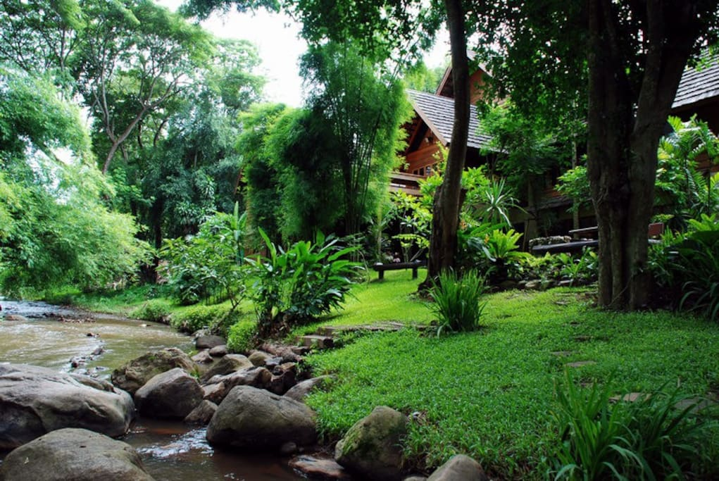 The villa is located along Tachang River