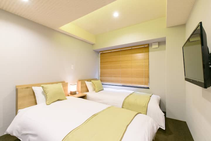 [JP INN MONGAKU]  Twin room 10min from Kyoto st