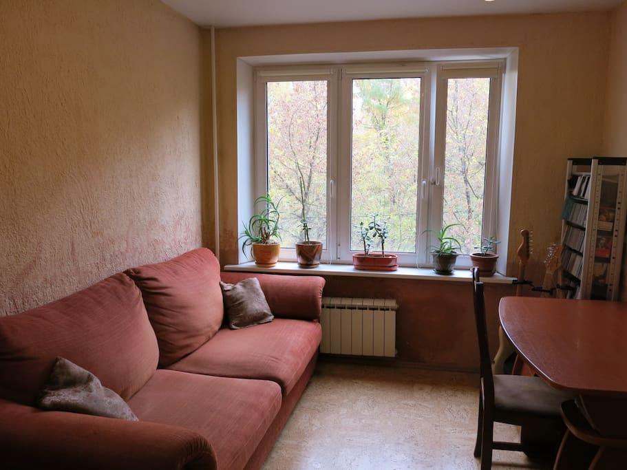 Удобный раскладной диван / Comfortable sofa-bed