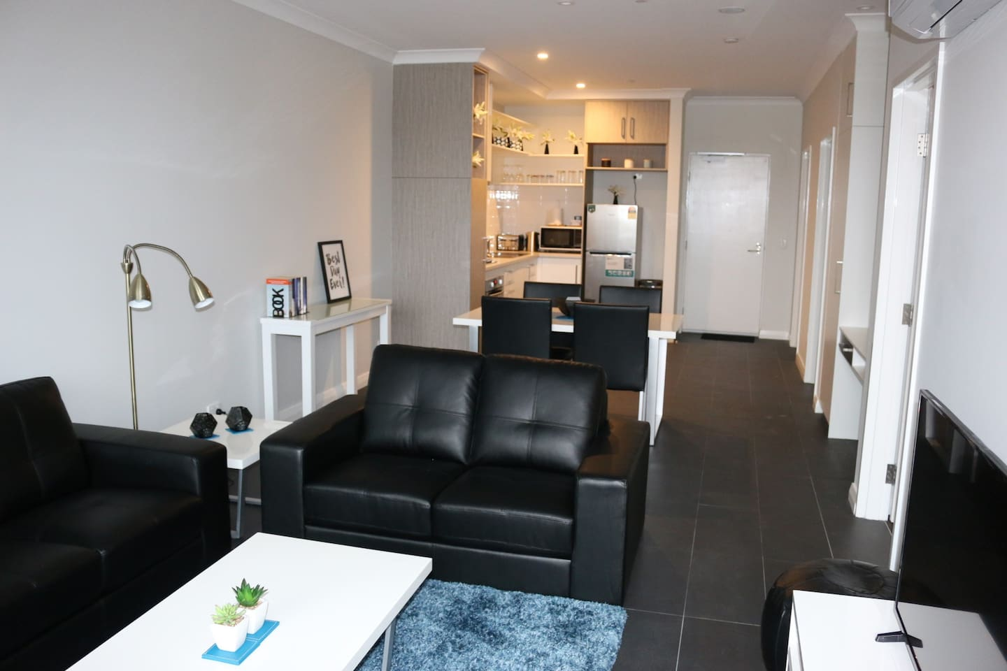 Open plan living with all amenities
