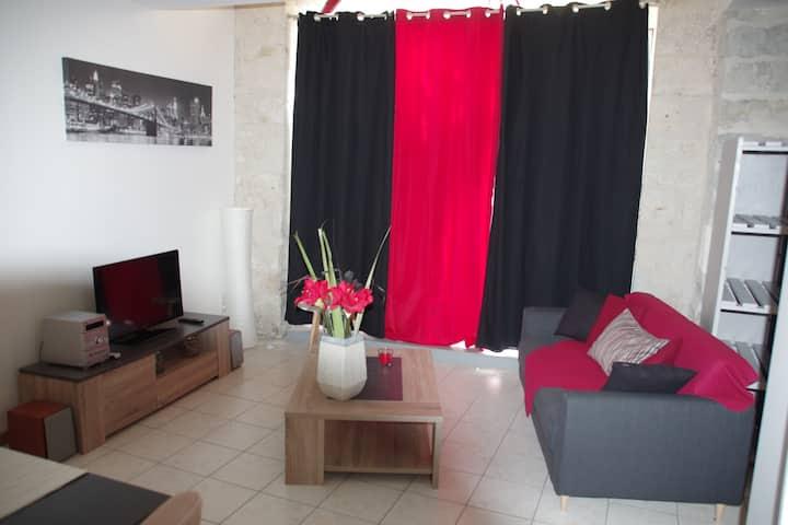 2 pièces 55 m² sympa, avec wifi, cœur historique