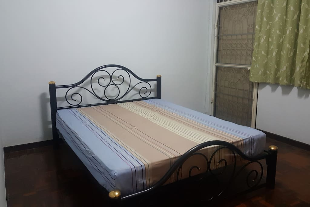 Private bed room with the king size bed