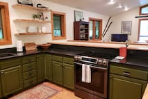 Newly remodeled kitchen, view the lake while cooking dinner.