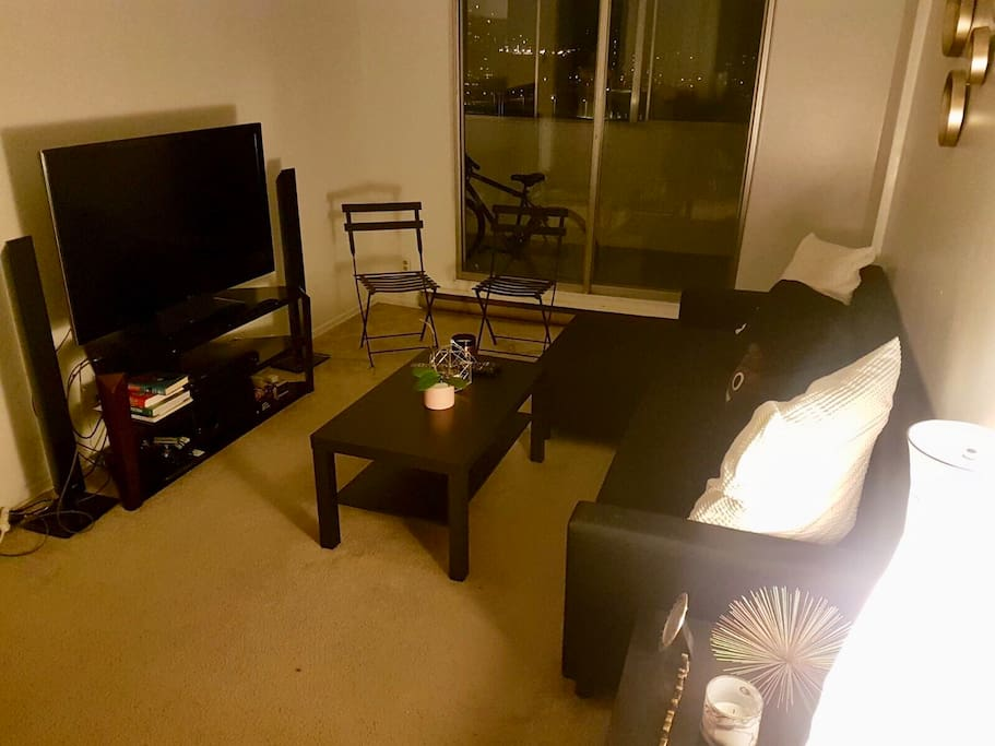 Common space - living room with Apple TV and Netflix