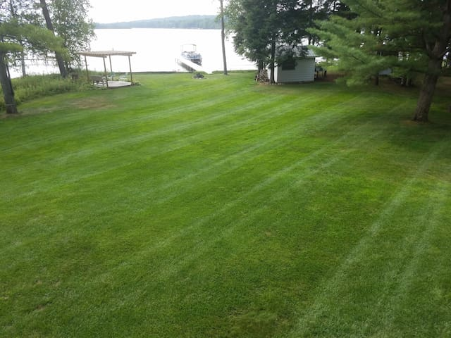 Large yard, great for playing tag with the kids or throwing a ball.
