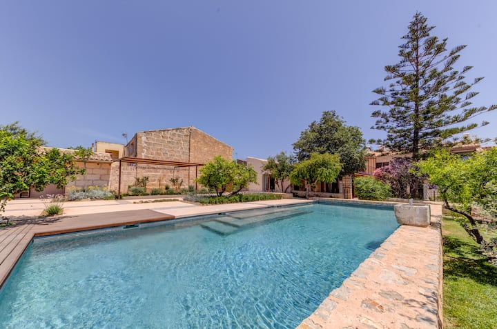New, huge design Finca with pool  for 10 people