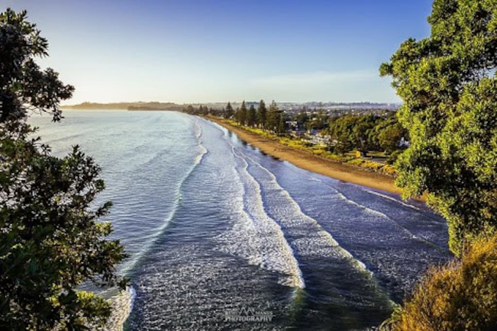 Orewa Beach from the northern lookout