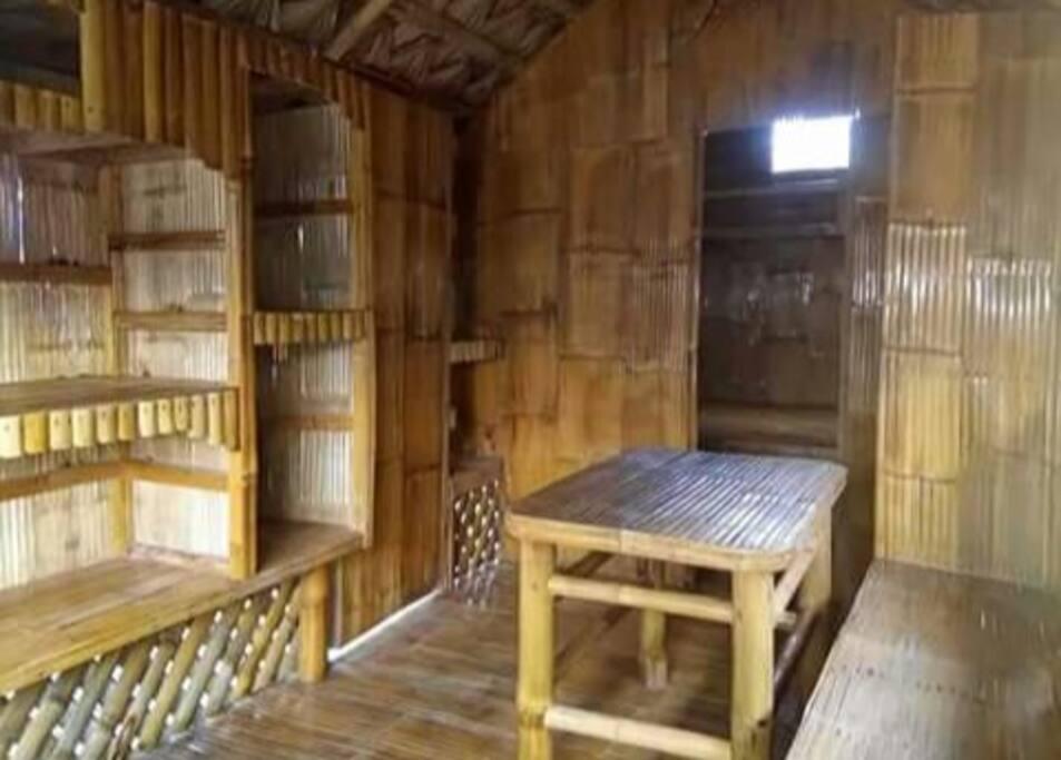 The receiving area, inside