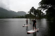 One of our water activities, Stand Up Paddle Boards for rent.