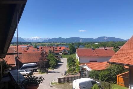 Wohnung mit Bergblick im Blauen Land
