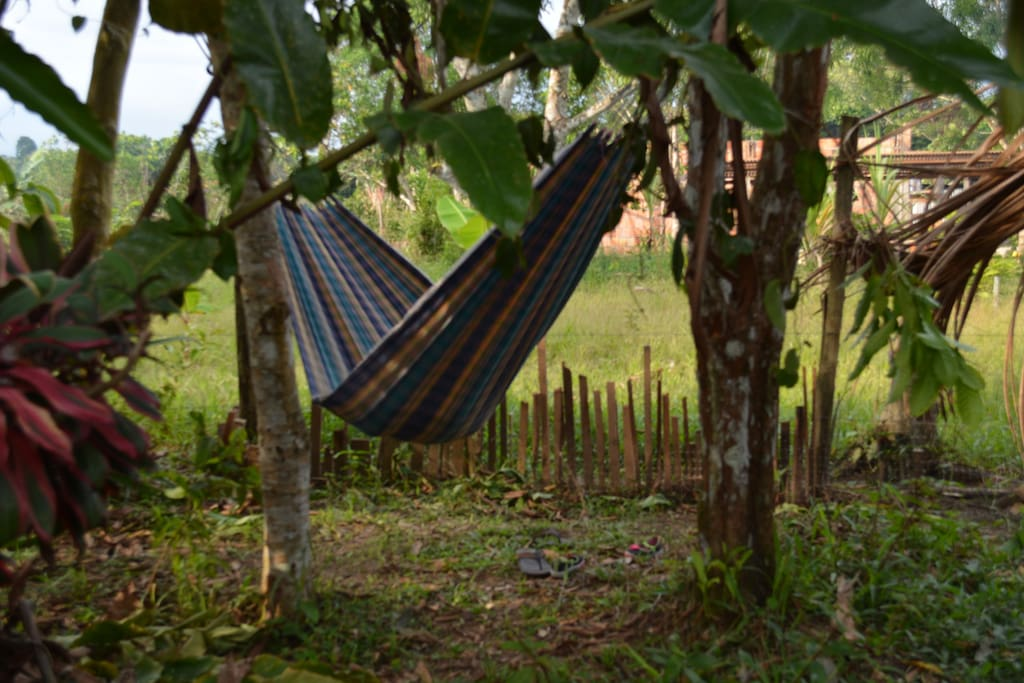 hanging your hammock in our second property in the jungle!