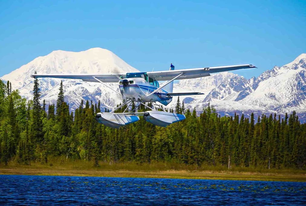 Come see Denali with us! We are local business owners. Flightsee, fish, hike, and wildlife opportunities with a floatplane flight at Alaska Bush Floatplane Service. The docks are five miles away from the cabin. As a family we are often here enjoying the views and spending time together outdoors.  Summers are short in the north!