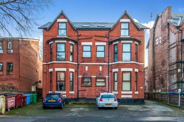 Cozy double minutes from Burton Rd - Manchester - Apartamento