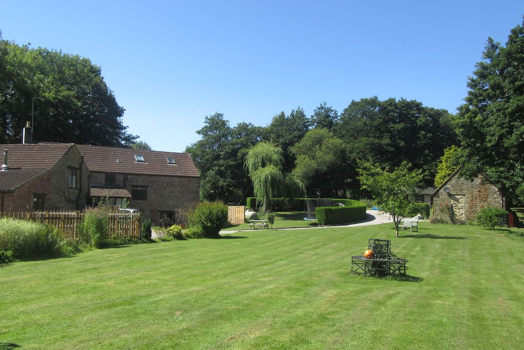 The well maintained gardens at Parish Mill