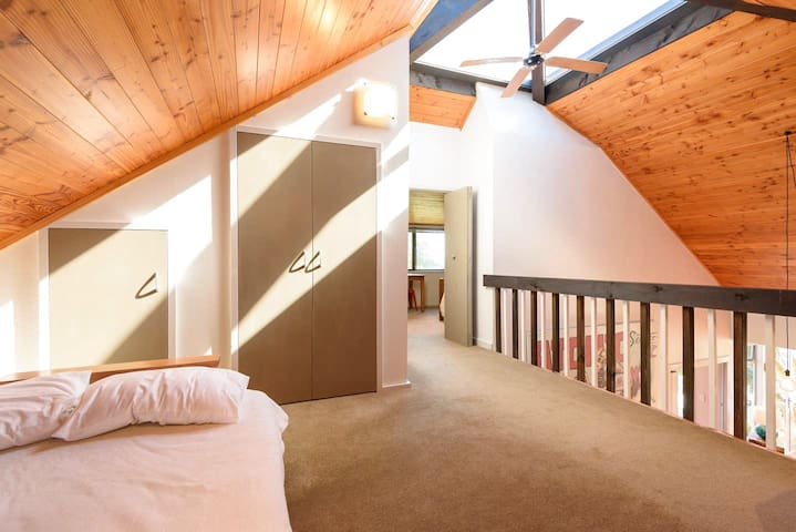 Loft with futon double bed / couch combination