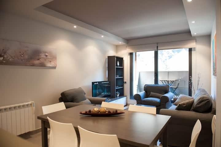 Apartamento para 4 personas con balcón