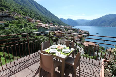 La LUNA apartment in the village near Bellagio - Lezzeno