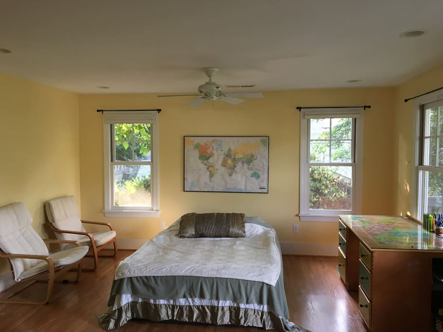 Your Bedroom with natural light   and extremely Comfortable Queen size bed