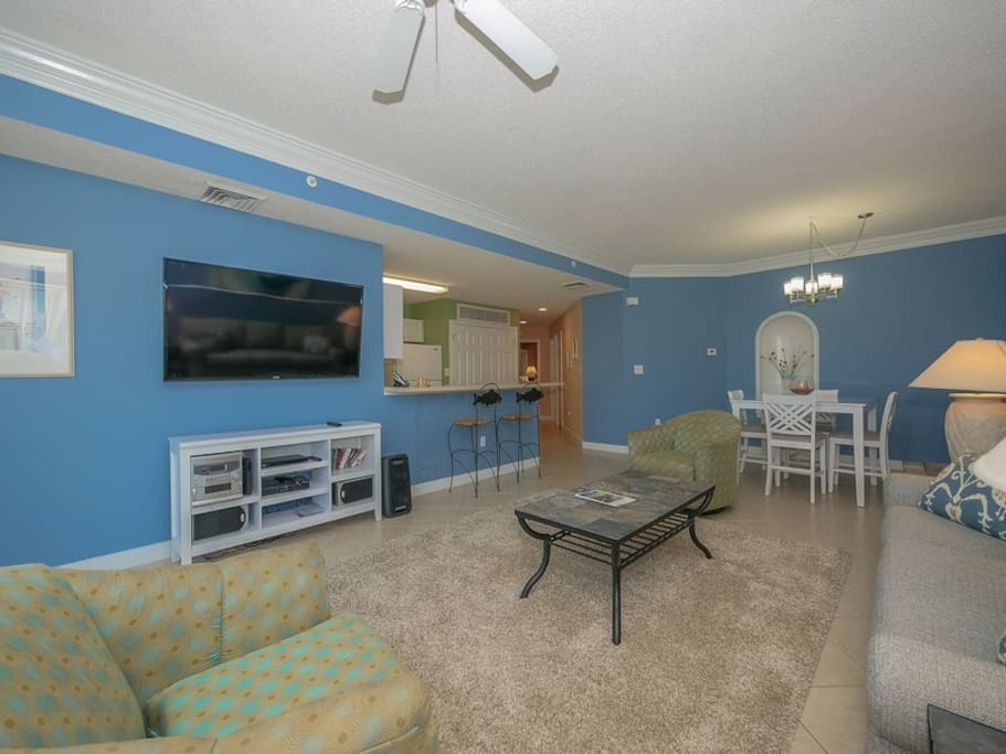 Living Room, Dining Area and Kitchen at 2405 SeaCrest