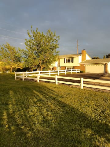 Relax in WY style with over 2 acres. Very cozy