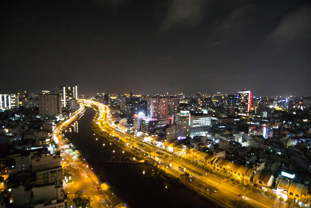 Apartment's view at night