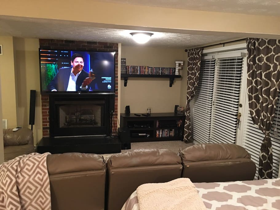 "60"" Flat Screen with Direct TV and WIFI"