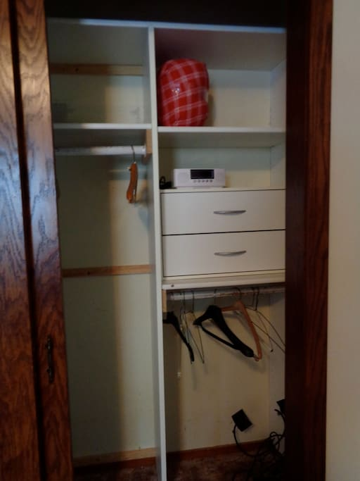 Right half of  main bedroom closet