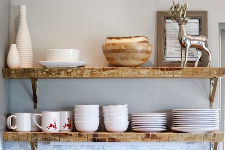 Modern Rustic finishes and decor