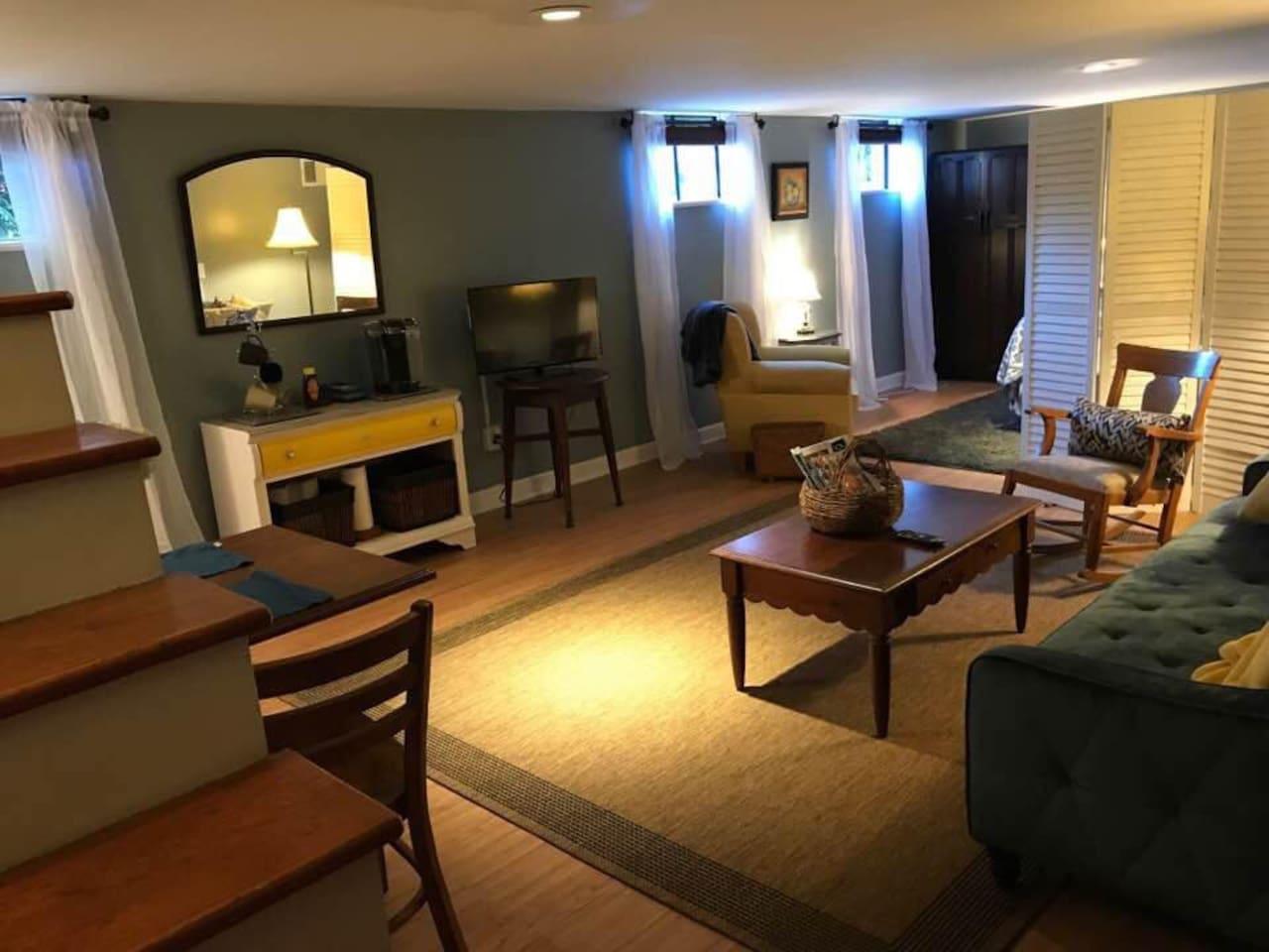 Quiet comfortable open living space