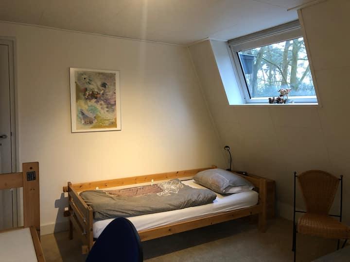 Ruime 1p kamer in Zeist-Centrum met eigen badkamer