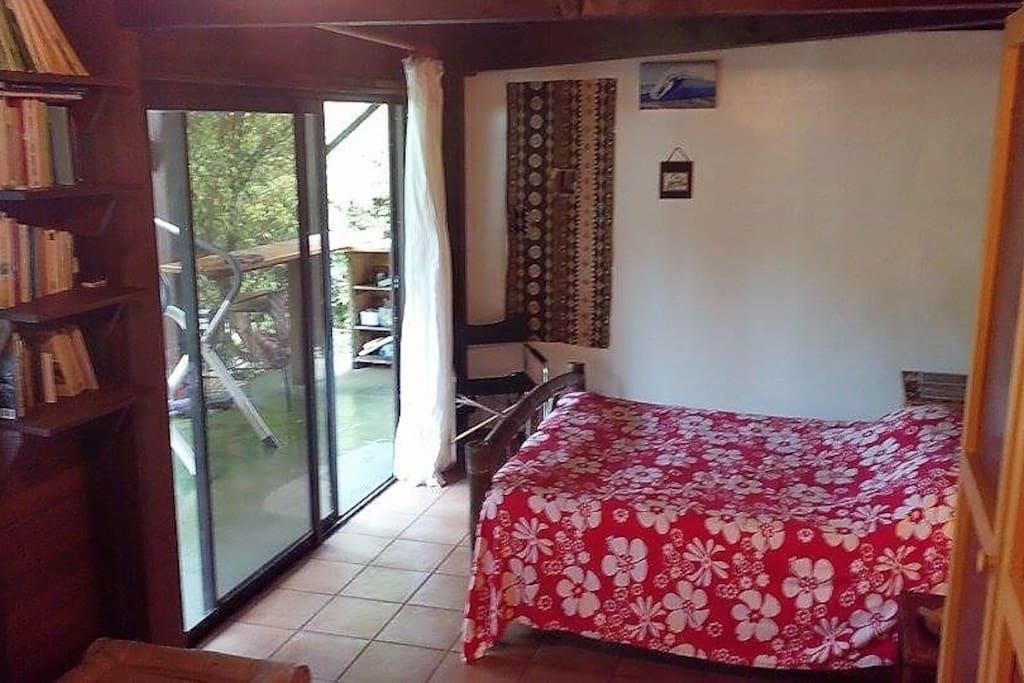Bedroom at garden level