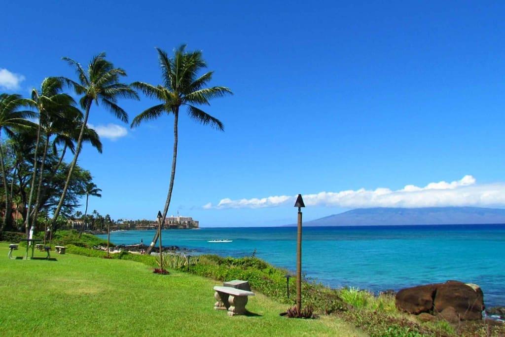 Great views of the island of Lanai and Molokai