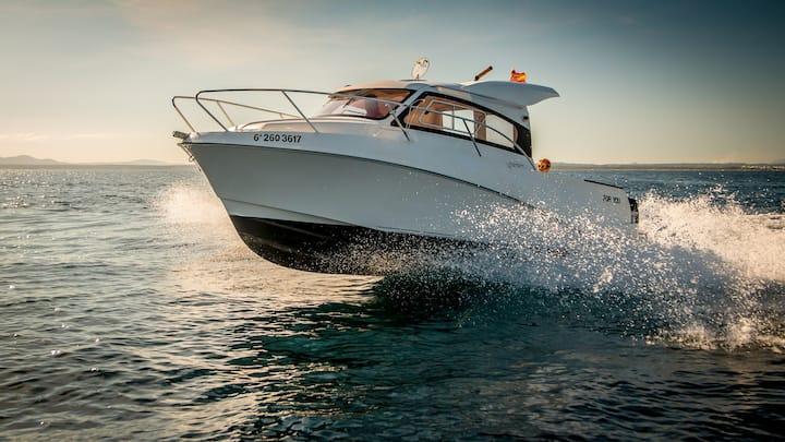 Boat rent charter hire fishing Alcudia Mallorca