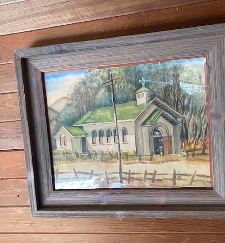 Original art throughout house.