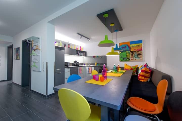 3 Gästezimmer im bunten Pop-Art-Style in Bensheim